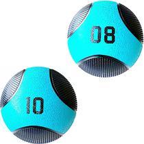 Kit 2 Medicine Ball Liveup PRO 8 e 10 Kg Bola de Peso Treino Funcional LP8112 -
