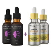 Kit 2 Melasma Clear e 1 Vitamina C Original  Premium - Mega Beleza