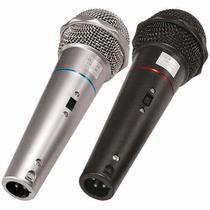 Kit 2 Microfones C/ Fio De Mão Dinâmico Chave Cabo 3m Csr505 -