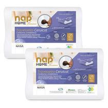 Kit 2 Nap Travesseiro Cervical Nap Home Premium Ortopedico Contorno Anatomico Espuma Nasa TRCERP01 -