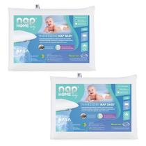 Kit 2 Nap Travesseiro Nap Baby Infantil Bebê RN Anti Sufocante Hipoalergenico Recem Nascido TRINR01 -