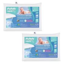 Kit 2 Nap Travesseiro Nap Baby RN Infantil Hipoalergenico Espuma Nasa Recem Nascido TRINR01 -