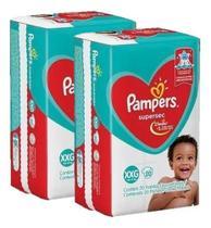 Kit 2 Pacotes Fraldas Pampers Descartável Infantil Atacado -