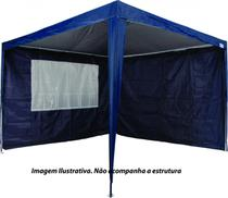 Kit 2 Paredes Para Tenda Gazebo Azul 3X3m MOR -