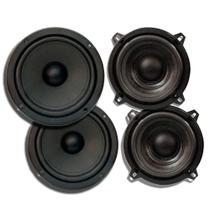 Kit 2 Pares 5+6 Pol Alto Falante Mid Bass 200w Rms 4 Ohms - ORION