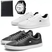 Kit 2 Pares Sapatênis Casual Masculino + Relógio E Carteira - Sw Shoes