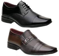 Kit 2 Pares Sapatos Torani Sociais Masculinos Viterbo -