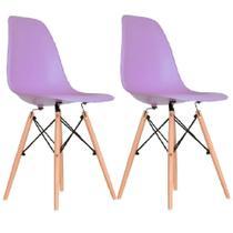 Kit 2 peças cadeira charles eames wood design dsw - Cds
