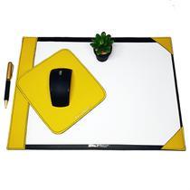 Kit 2 peças risque a3 mousepad amarelo e preto escritório - Apparatos