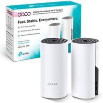 Kit 2 peças - Roteador Fast Wifi TP-Link Rede Mesh AC1200 Mbps Dual Band 2.4Ghz e 5.0Ghz 3 em 1 - DECO E4 -