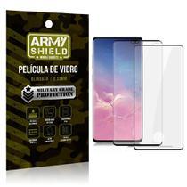Kit 2 Películas de Vidro Blindada 3D Full Cover Galaxy S10 Plus - Armyshield -