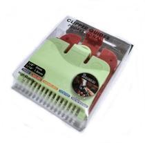 Kit 2 Pentes De Disfarce Para Maquina Cabelo 1/16 E 1/8 - Clipper Guides