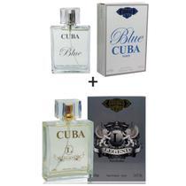 Kit 2 Perfumes Cuba 100ml cada  Blue + Legend -