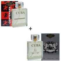 Kit 2 Perfumes Cuba 100ml cada  Centenary + Legend -