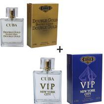 Kit 2 Perfumes Cuba 100ml cada  Double Gold + Vip New York -