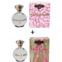 Kit 2 Perfumes Cuba 100ml cada  Mademoiselle + Miss Cuba -