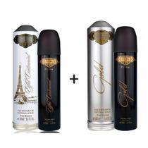 Kit 2 Perfumes Cuba Prime 100ml cada  Eiffel Centennial + Gold -