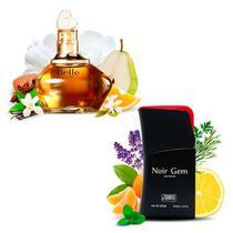 Kit 2 Perfumes Importados Belle e Noir Gem I Scents -