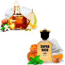 Kit 2 Perfumes Importados Belle e Super Rich I Scents -