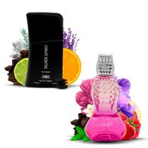 Kit 2 Perfumes Importados Coretan e Silver Spirit I Scents -