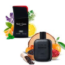 Kit 2 Perfumes Importados Noir Gem e Dublin I Scents -