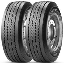Kit 2 Pneu Pirelli Aro 22.5 385/65r22.5 160k/158l St 01 Plus Liso Rodoviário -