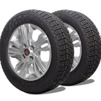 kit 2 pneu remoldado aro 15 205/60r15 atr strong