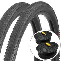 Kit 2 Pneus Pirelli Scorpion Pro 29x2.20 e Câmara Pirelli 29 Válvula Presta 48mm -