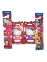 kit 2 Porta Escova e 2 Escova Hello Kitty - Jadefrog