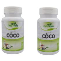 Kit 2 Potes de Óleo de Coco Oil 120 Cápsulas Nutrivale -