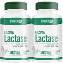 KIT 2 POTES - Lactase (Enzima) - 120 Cápsulas 400mg - Duom - Unilife