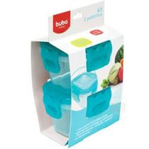 Kit 2 potinhos azul tampa hermetica - Mart Import
