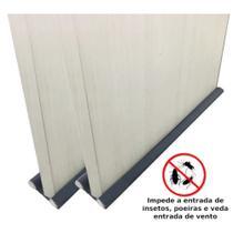 Kit 2 Protetores Veda Porta 96cm Ajustavel Cinza  Clink -