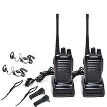 Kit 2 Radios Comunicação Ht Uhf Vhf 16 Canais Completos 777s - Baefang