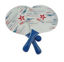 Kit 2 Raquetes + Bola Frescobol Tênis de Praia Redstar - Azul -