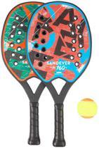 Kit 2 Raquetes Com Bola Beach Tennis Tênis De Praia - Sandever