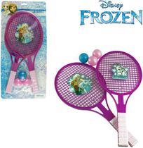 Kit 2 Raquetes de Ping Pong Tênis e 3 Bolinhas Frozen - Etitoys