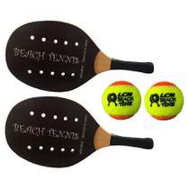Kit 2 Raquetes e 2 bolas de Beach Tênis Sakis Sport -