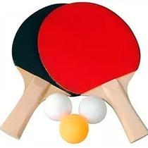 3e1dea569 Kit 2 Raquetes para Ping Pong 3 Bolinhas