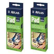 Kit 2 Refil Pad Pintura Cabo Plástico Stains, Vernizes Atlas -