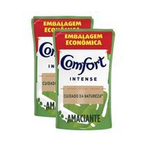 Kit 2 Refis Amaciante de Roupa Comfort Concentrado Detox Intense 900ml -