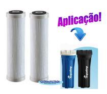Kit 2 Refis Laváveis Filtro Água Acqualimp Antigo - Fpe-01r - Globalfiltros