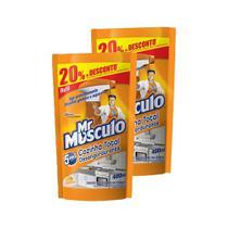 Kit 2 Refis Limpador Desengordurante Mr Músculo Laranja 400ml -
