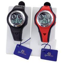 Kit 2 Relógio Digital Original Infantil Masculino Feminino Silicone Ajustável Alarme Calendário - led