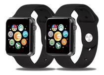 Kit 2 Relógio Smartwatch Feminino A1 Digital Ios/android Recebe Msg WhatsApp Faz Chamadas Agenda -