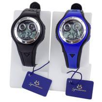 Kit 2 Relógios Infantis Digitais Ajustáveis Com Luz E Alarme - Orizom
