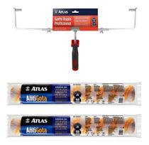 Kit 2 Rolo Antigota 46cm Big + Garfo Duplo Suporte Atlas -