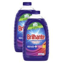 Kit 2 Sabão Líquido Brilhante Limpeza Total 3l -