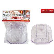 kit 2 SABONETEIRA CRISTAL TRANsparente  -MX117 - Maximo