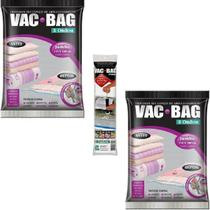 Kit 2 Sacos a Vacuo VAC BAG Jumbo Ordene 110 X 100 + Bomba -